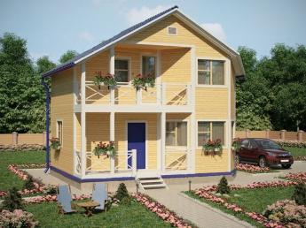 Каркасный дом для дачи АСК-Интеб