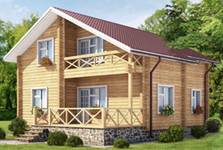 Дом из бруса - проект АСК Интеб