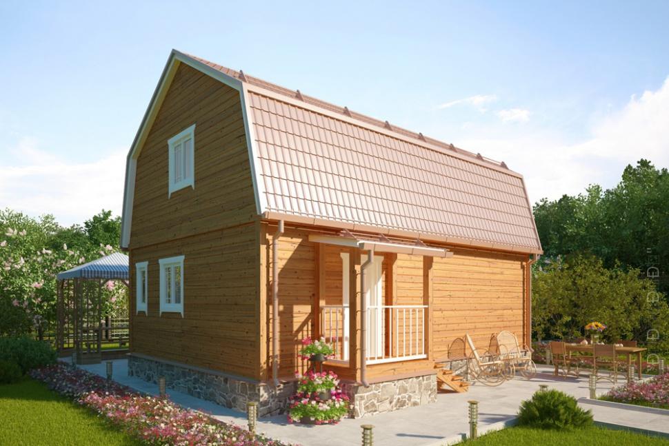 деревянный каркасный дом для дачи - АСК Интеб