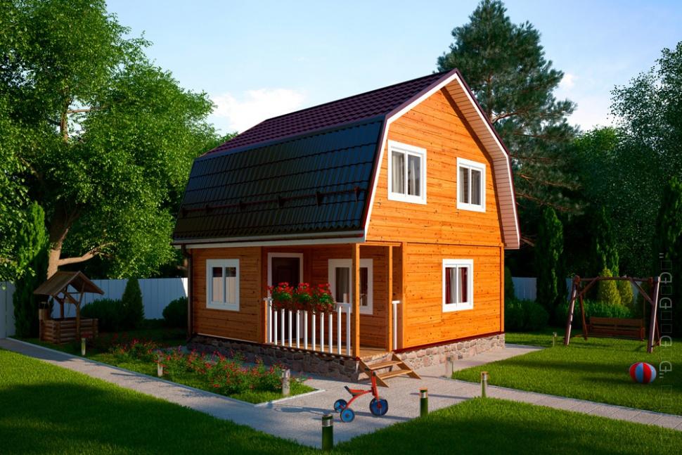Недорогой каркасный дом для дачи